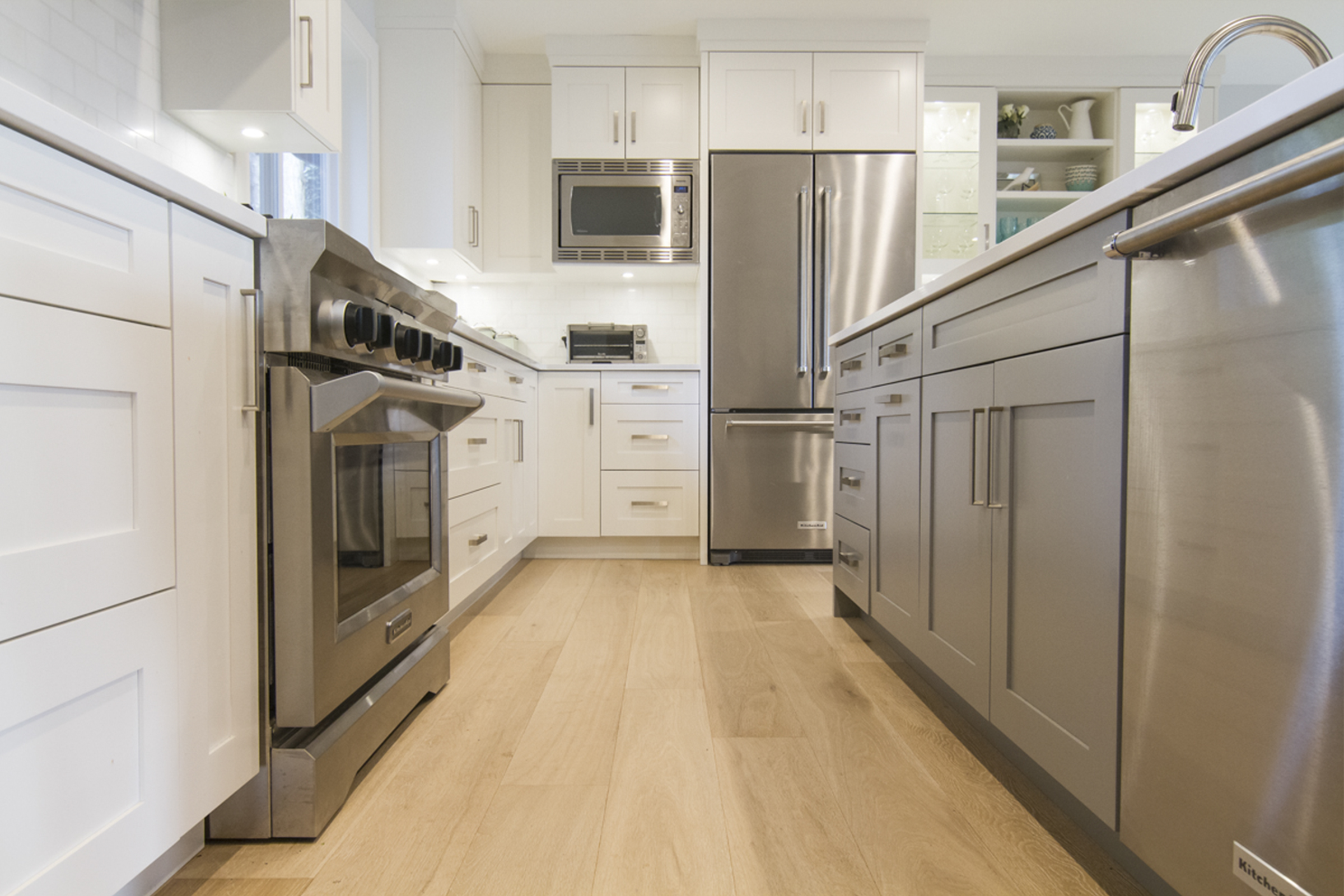 Kitchen cabinet refacing north vancouver - Whitecabinets_kitchenfloor Browncabinets_microwave Whitecabinets_cupboards